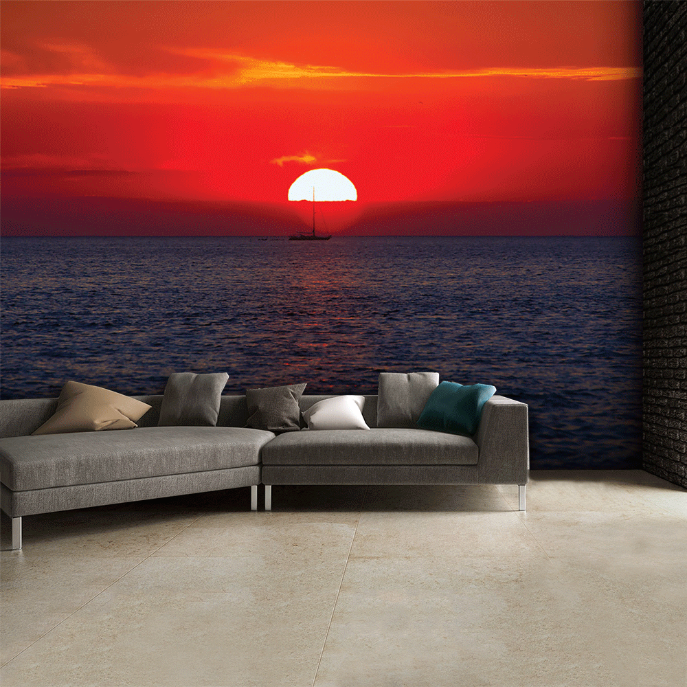 1 wall sunset wall mural 315cm x 232cm tropical sunset wallpaper wall mural muralswallpaper co uk