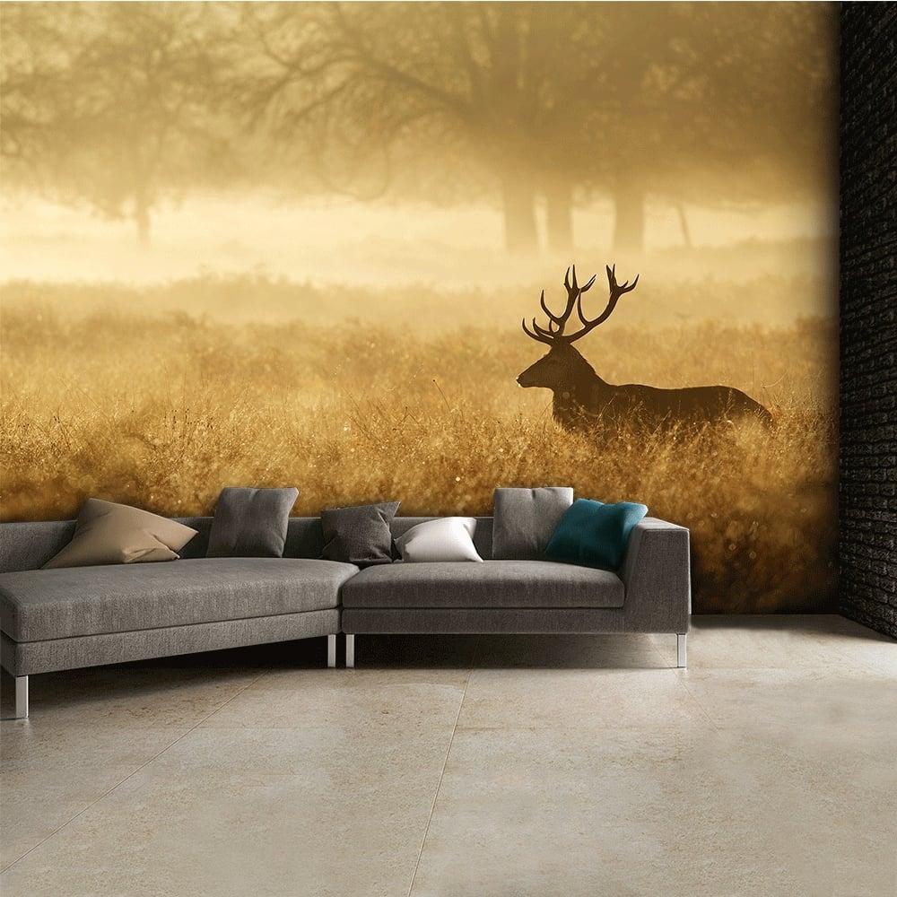 Autumn Stag landscape Wall Mural 315cm x 232cm