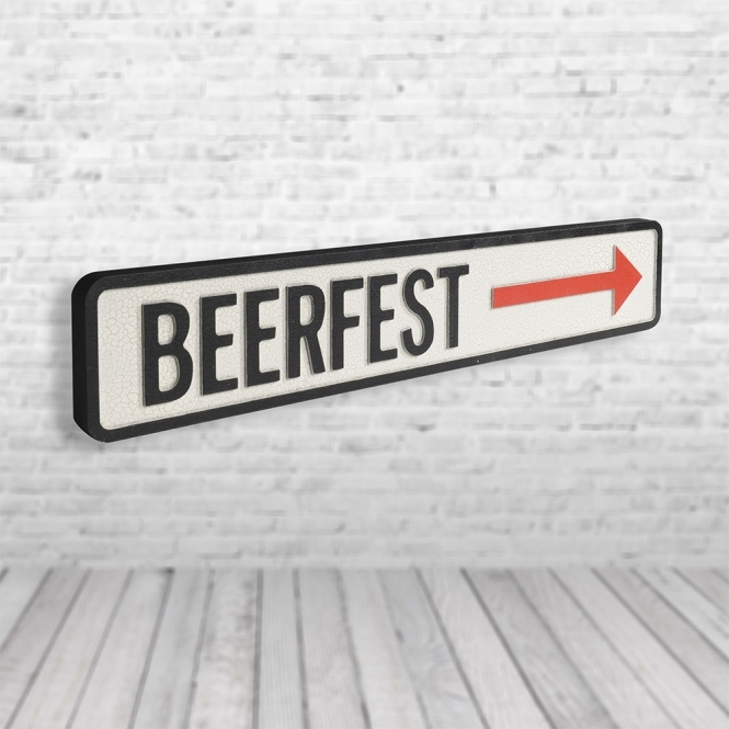 1Wall Beer Fest Vintage Road Sign / Street Sign | Perfect for a Man cave or Bar
