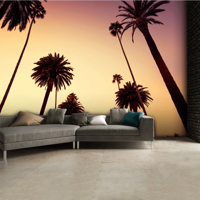 1Wall California Palm Trees Wall Mural | 315cm x 232cm