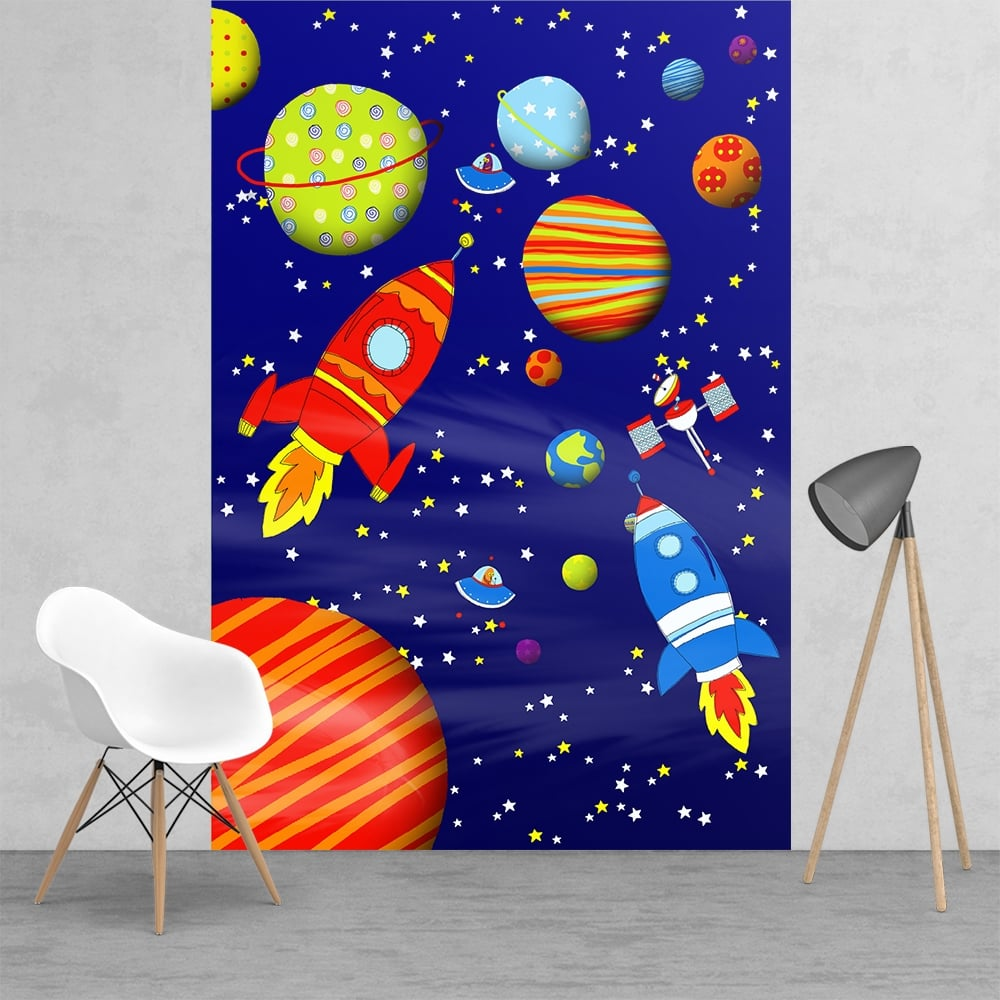 Cathrine Lansfield Childrens Outer Space Feature Wall Wallpaper Mural 1 58 X 2 32m