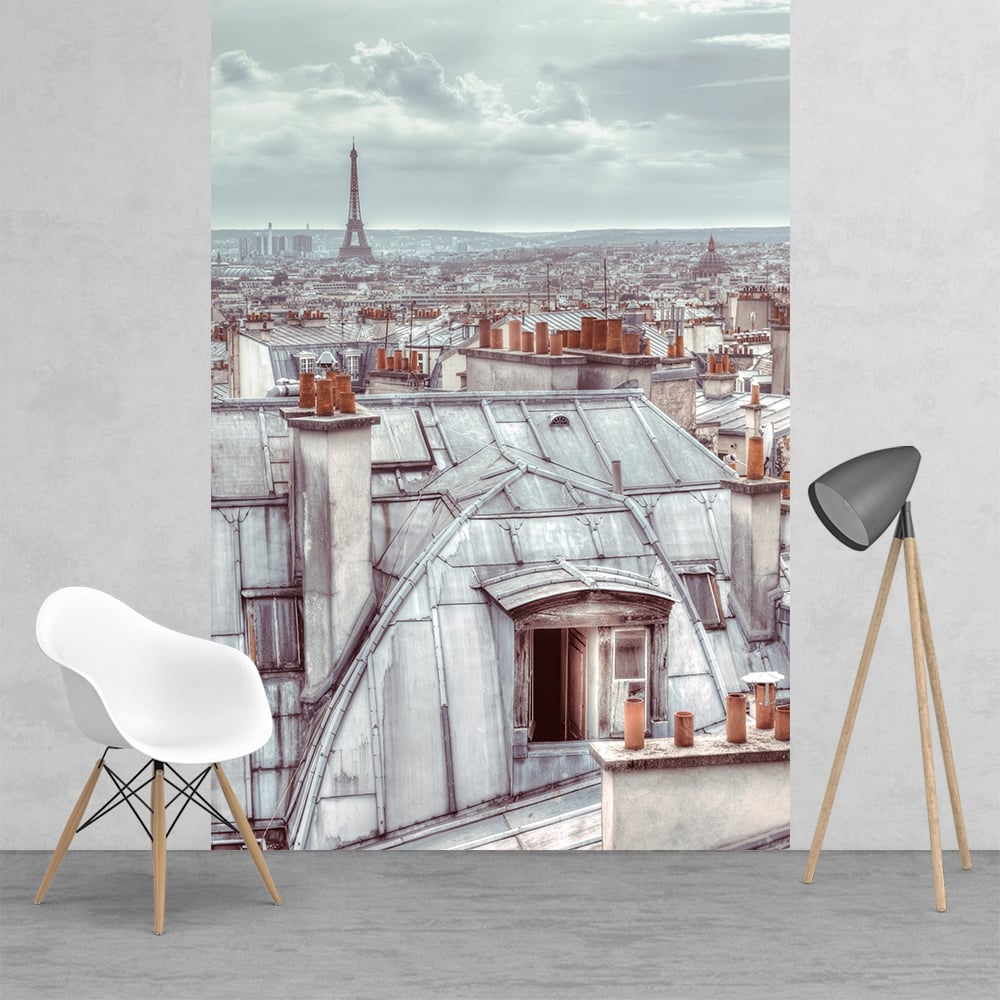 Classic Vintage Roof Tops Of Paris Wallpaper Mural