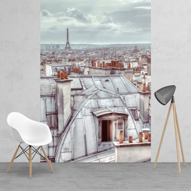 1Wall Classic Vintage Roof Tops of Paris Wallpaper Mural | 158cm x 232cm