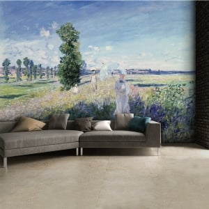 Claude Monet Argenteuil Summer Walk Wall Mural | 315cm x 232cm