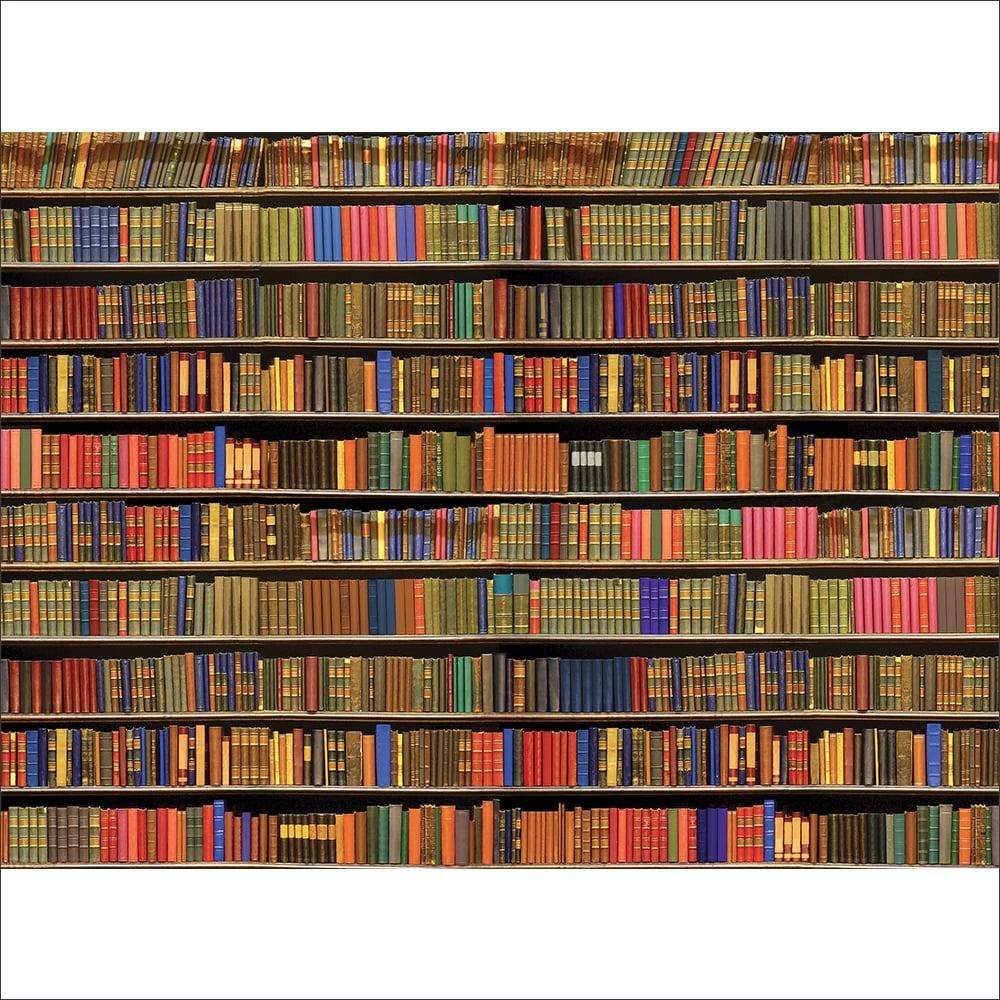 Colourful Library Bookshelf Wallpaper Mural 3 15 X 2 32m