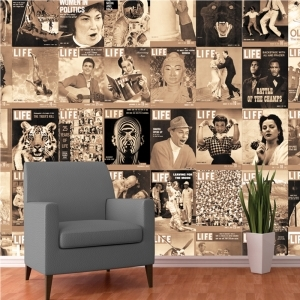 Creative Collage LIFE Covers 64 piece Wallpaper