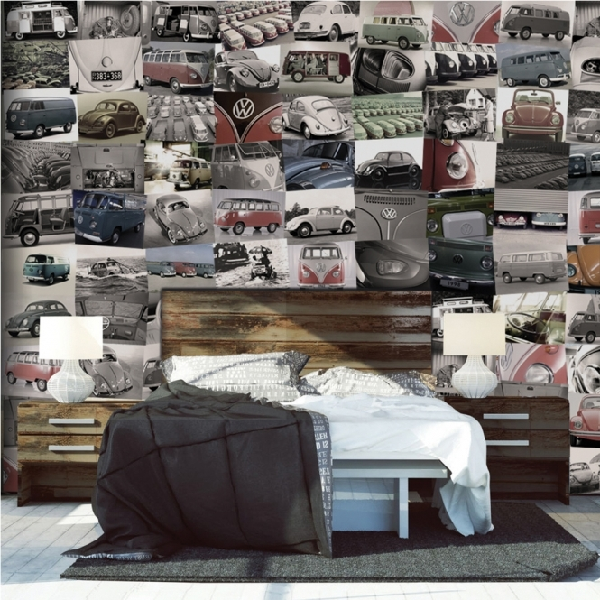 1Wall Creative Collage VW 64 piece Wallpaper