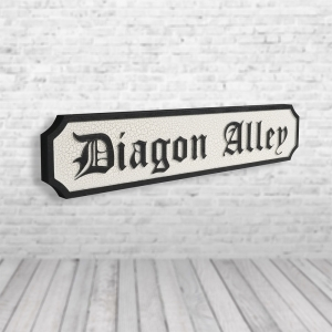 Diagon Alley Vintage Road Sign / Street Sign | Wooden Sign