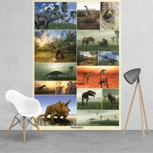 Discovery Channel Dinosaur Collage WallpaperMural | 158cm x 232cm