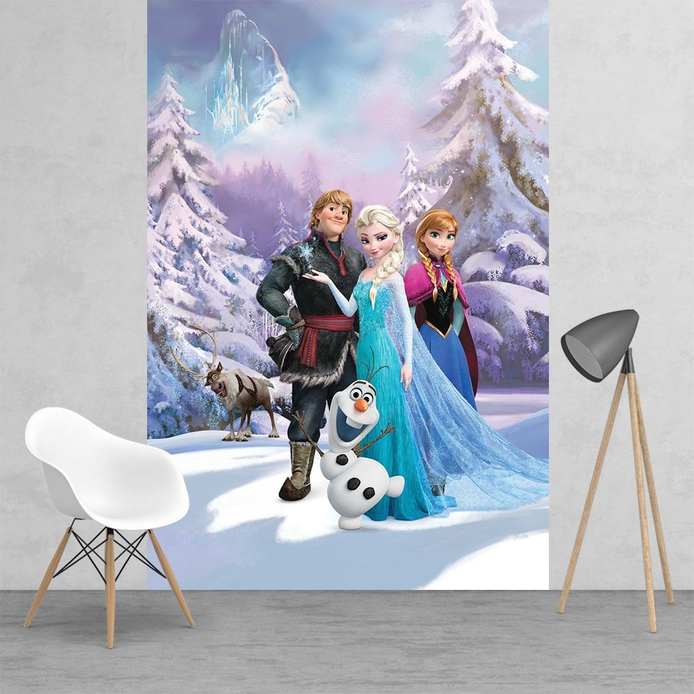 Charming Disney Frozen Elsa Princess Feature Wall Wallpaper Mural | 158cm X 232cm Part 12