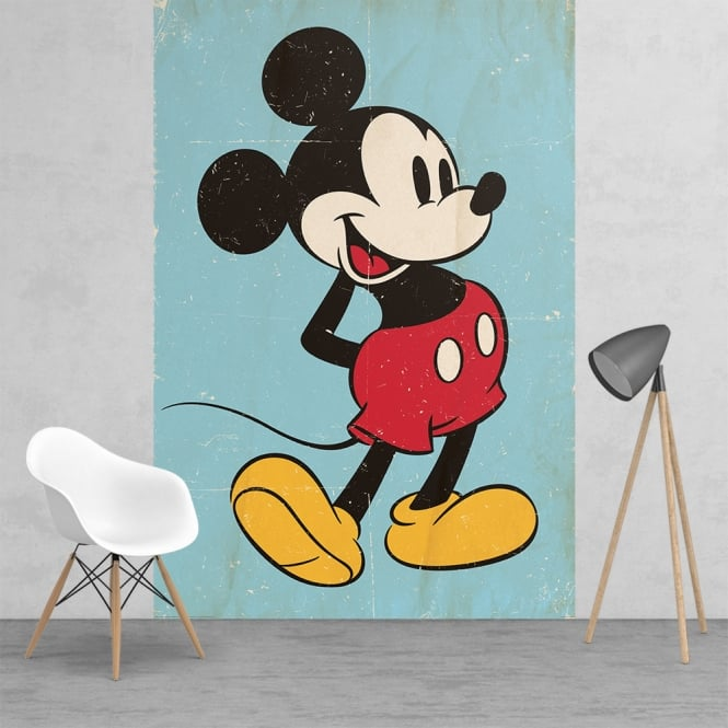 1Wall Disney Mickey Mouse Classic Vintage Style Feature Wall Wallpaper Mural | 158cm x 232cm