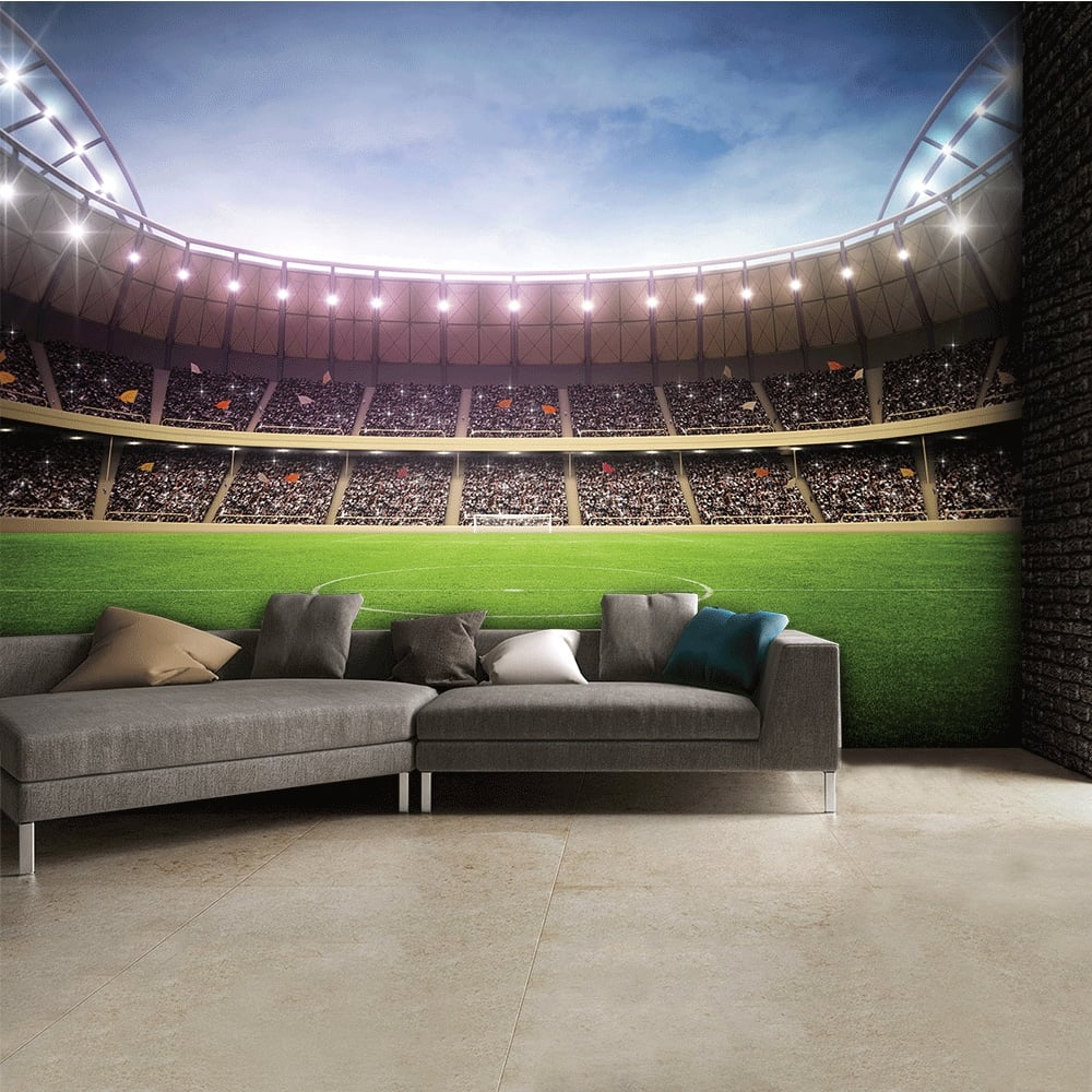Football Stadium Featured Wallpaper Mural 315cm X 232cm . Part 9