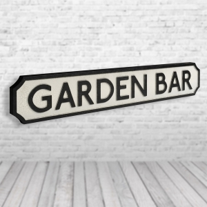 Garden Bar Vintage Road Sign / Street Sign | Perfect for a Garden Bar