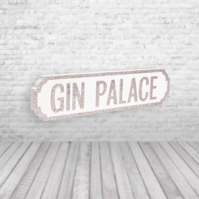 1Wall Gin Palace Vintage Road Sign / Street Sign | Perfect for Gin Lovers