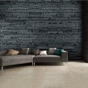 Grey Slate Wall Mural 3-D Effect Wallpaper Mural | 315cm x 232cm