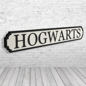 Hogwarts Vintage Road Sign / Street Sign | For the Harry Potter Fan
