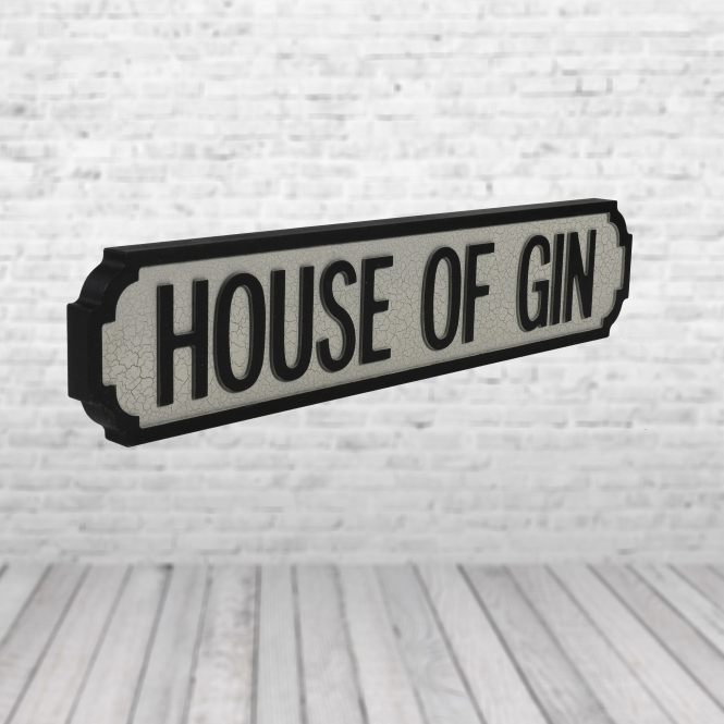 1Wall House of Gin Vintage Road Sign / Street Sign | Perfect for your Kitchen