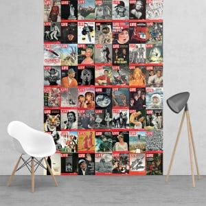 Iconic Life Magazine Covers Beatles Man on the moon Feature Wall Wallpaper Mural | 158cm x 232cm