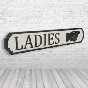 Ladies Vintage Road Sign / Street Sign