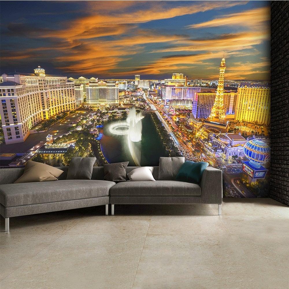 Las Vegas at night Skyline Wall Mural 315cm x 232cm