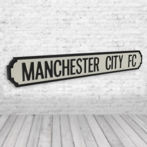 Manchester City FC Vintage Road Sign / Street Sign | Perfect for a Man cave or Bar