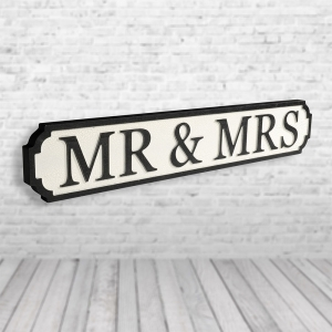 Mr & Mrs Vintage Road Sign / Street Sign