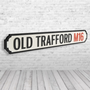 Old Trafford Vintage Road Sign / Street Sign | Perfect fior Machester United Fans