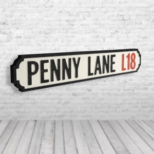 Penny Lane Vintage Road Sign / Street Sign | Made of MDF