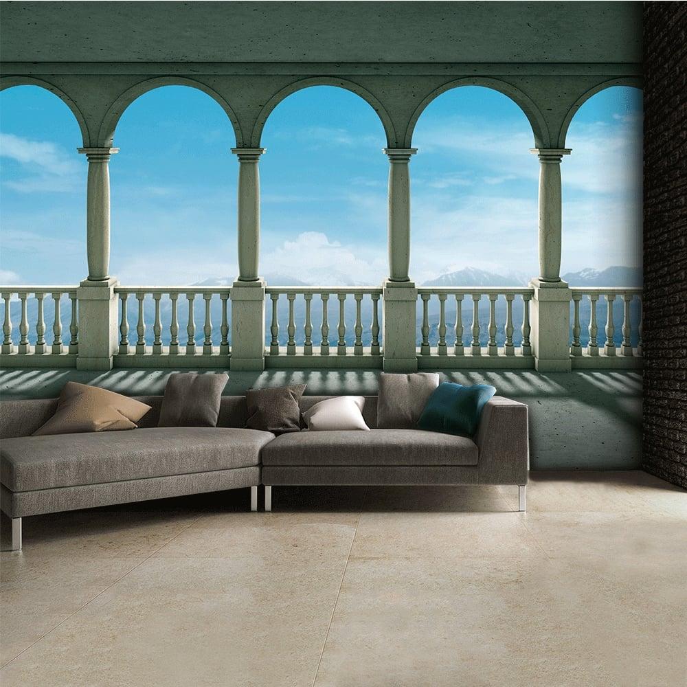 Picturesque Roman Columns Wall Mural 315cm x 232cm