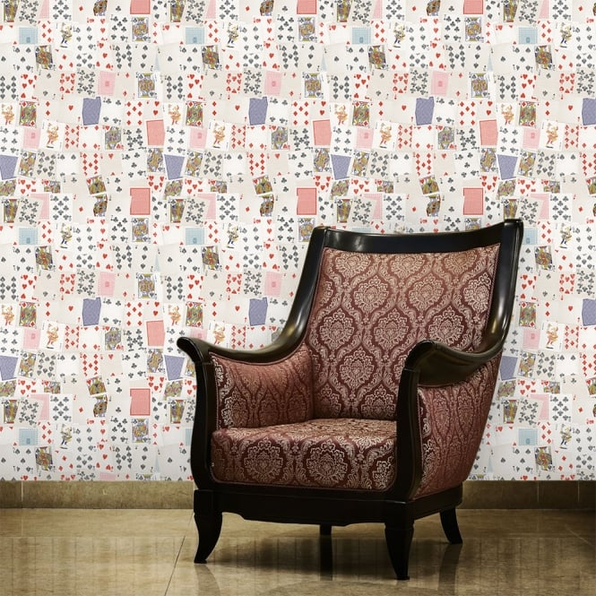 1Wall Playing Cards Games Room Collage Wallpaper 53cm x 1005cm