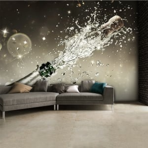 Prosecco Champagne Bottle Explosion Wall Mural | 315cm x 232cm