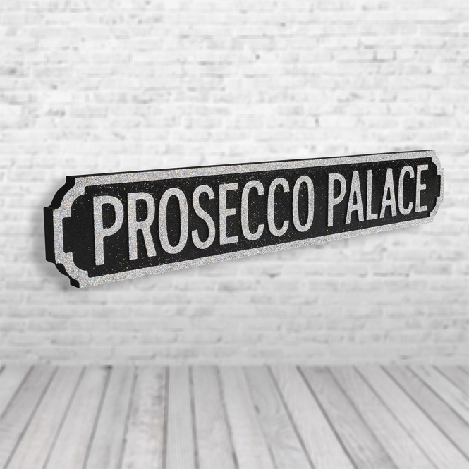 1Wall Prosecco Palace Vintage Road Sign / Street Sign | Perfect For Prosecco Lovers