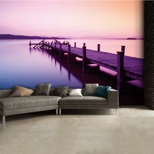 Purple Jetty Lake Wall Mural | 315cm x 232cm