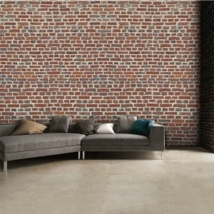 Rustic Red Brick Wall Wallpaper Mural | 315cm x 232cm