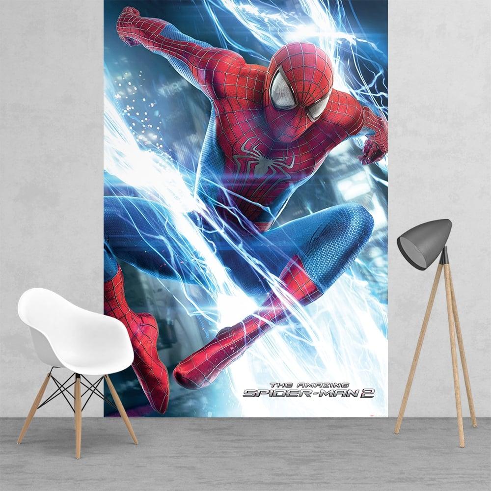 the amazing spiderman superhero feature wall wallpaper mural 158cm x. Black Bedroom Furniture Sets. Home Design Ideas