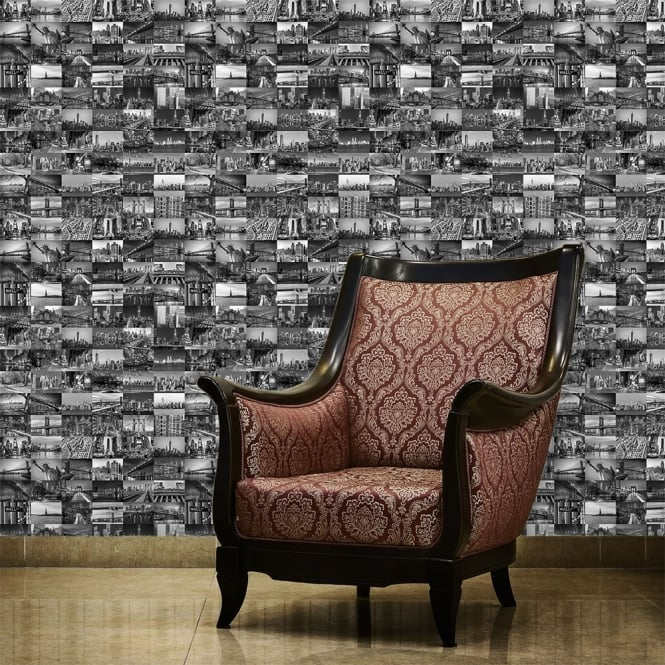 1Wall The Big Apple Black and White New York City Wallpaper 53cm x 1005cm
