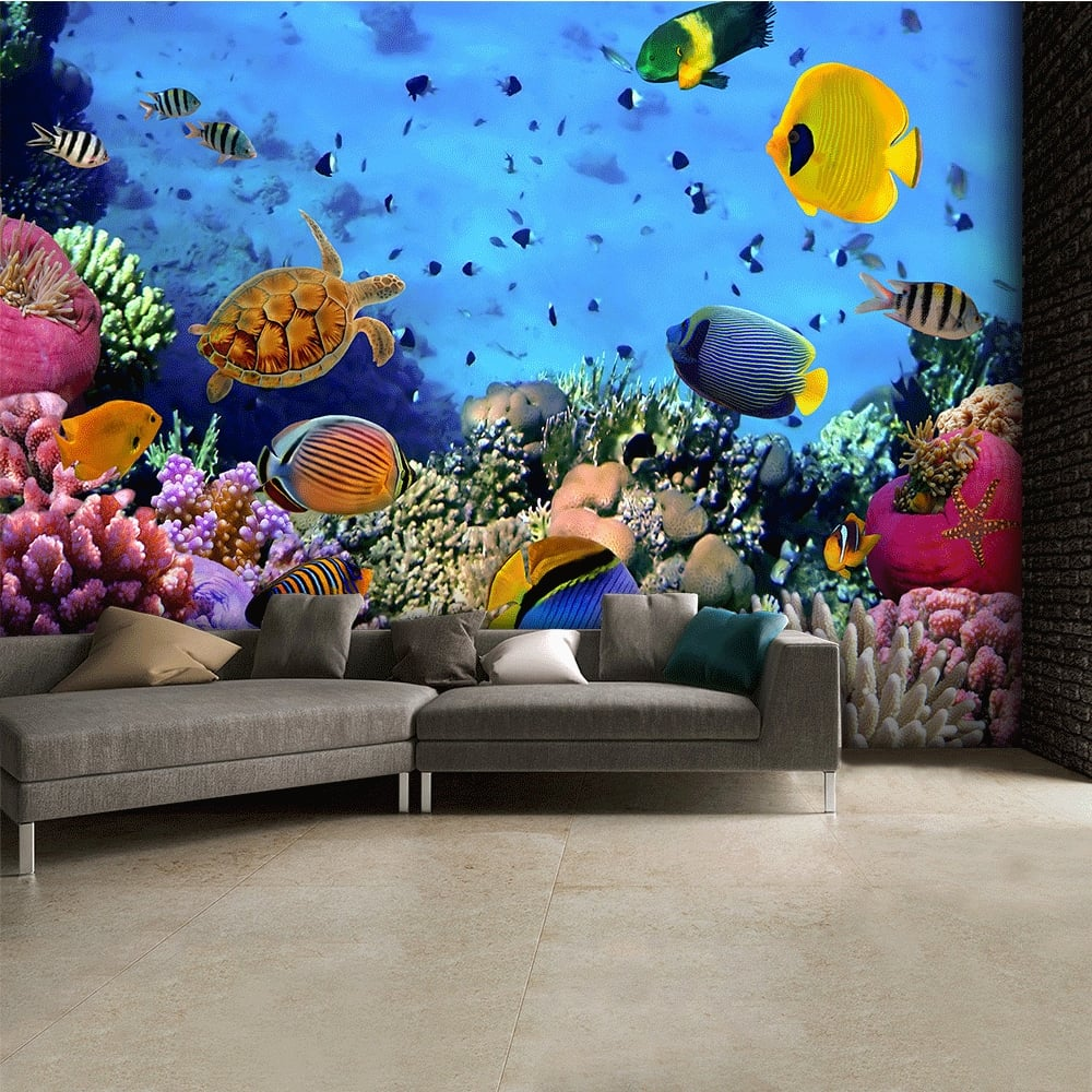 Under the Sea Tropical Fish Wallpaper Mural 315cm x 232cm