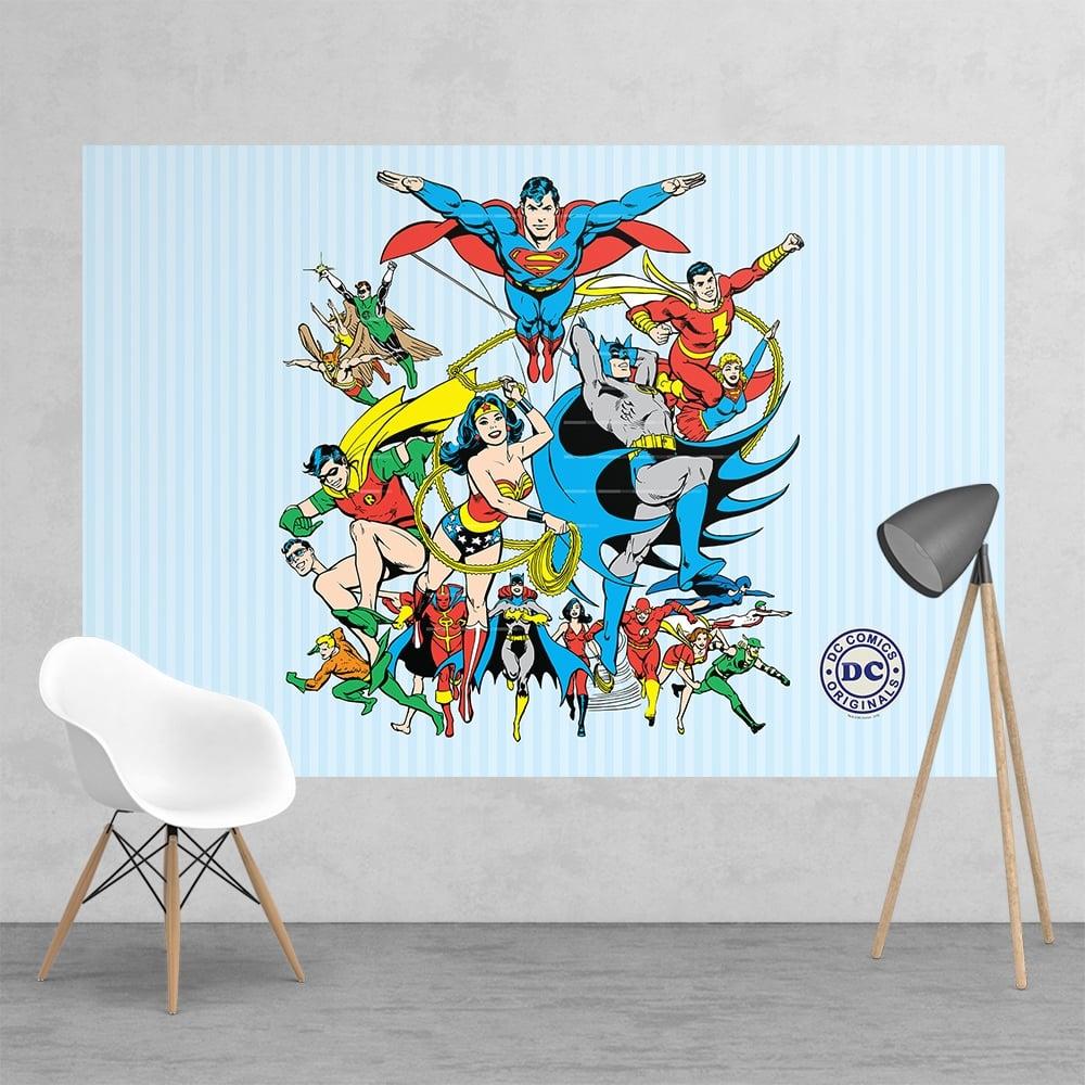 Free Comic Book Day Wallpaper: Vintage Classic DC Comic Superhero Batman Robin Superman