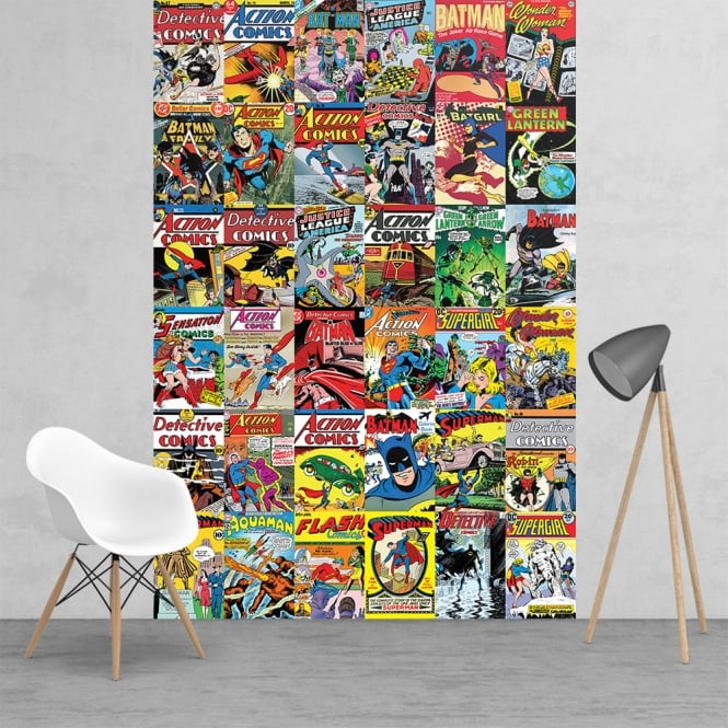 Free Comic Book Day Wallpaper: Vintage Classic DC Comic Superhero Collage Batman Robin