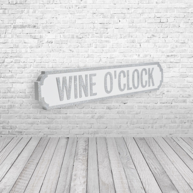 1Wall Wine O Clock Vintage Road Sign / Street Sign | For The Wine Lovers