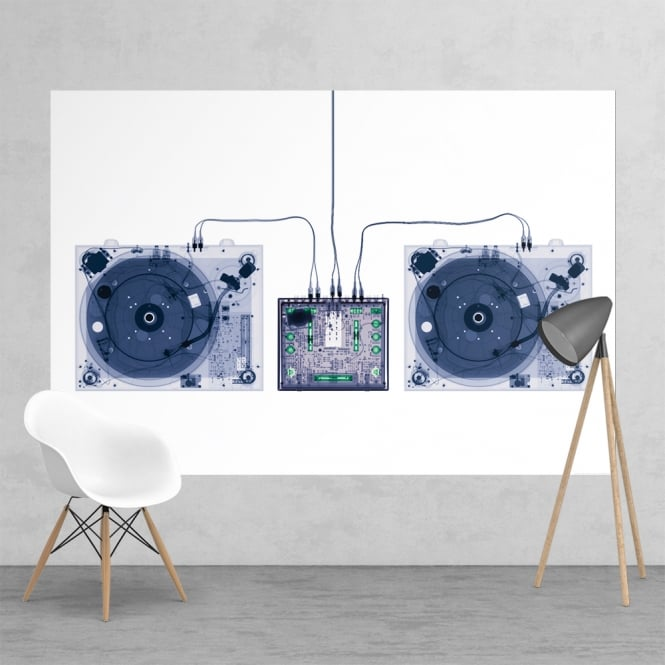 1Wall Xray-Decks DJ Music Decks Feature Wall Wallpaper Mural 2 Piece Murals | 158cm x 232cm