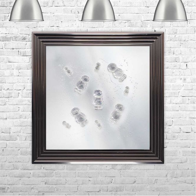 3D CLEAR JELLY BABIES ON MIRROR FRAMED WALL ART