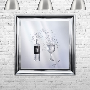 3D Gin Bottle Liquid Art With Label | JAKE JOHNSON | 75cm x 75cm