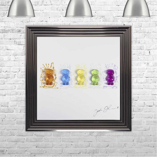 3D JELLY BABIES FRAMED WALL ART