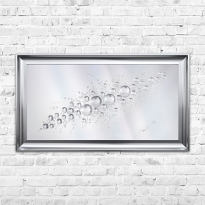 3D Liquid Art Spheres Splash | JAKE JOHNSON | 115cm x 64cm