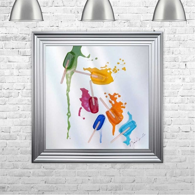 3D LOLLIES ON MIRROR FRAMED WALL ART