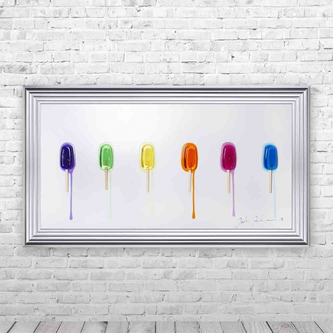 3D LOLLY 1 FRAMED WALL ART