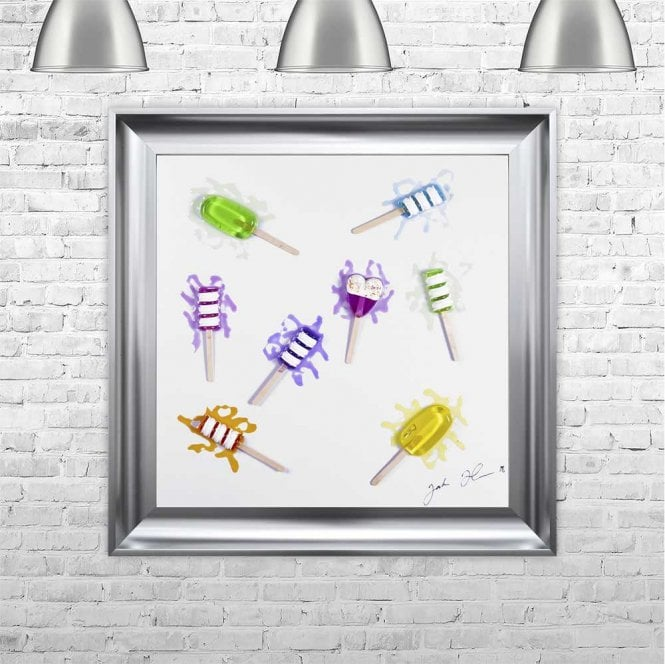 3D LOLLY SCATTER FRAMED WALL ART