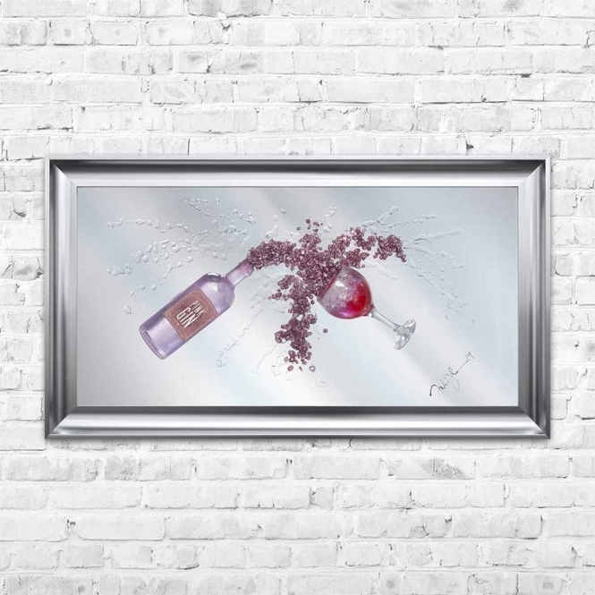 3D PINK GIN MIRROR FRAMED WALL ART