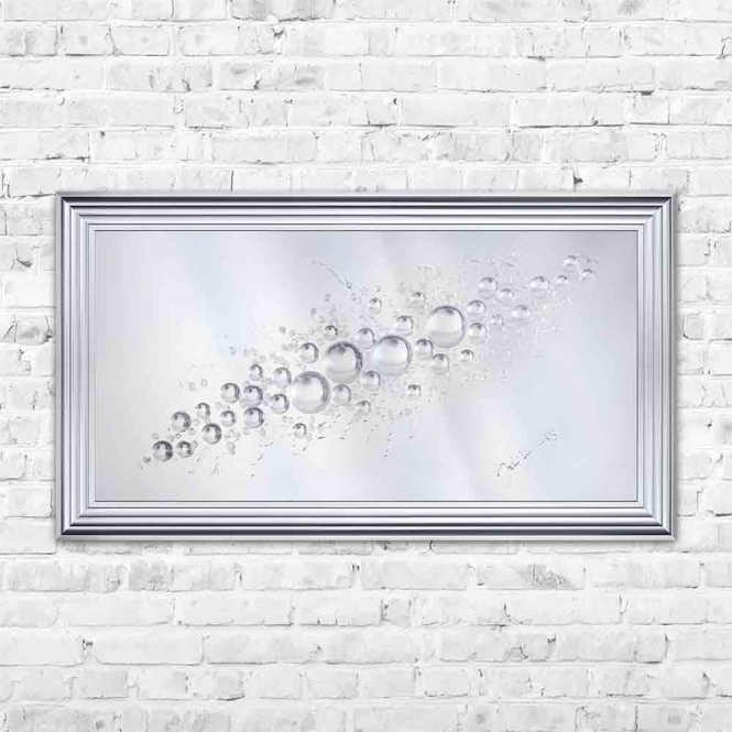 3D SPHERES MIRROR FRAMED WALL ART